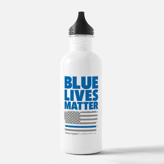 Unique The thin blue line Water Bottle