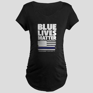 Blue Lives Matter Maternity T-Shirt