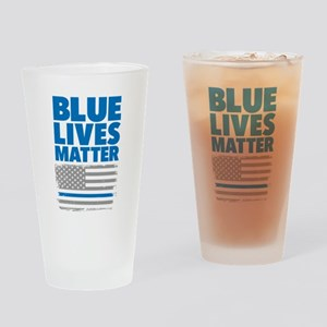 Blue Lives Matter Drinking Glass