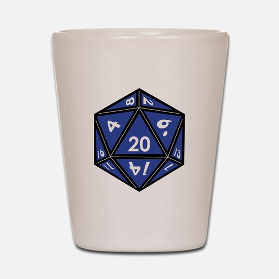 Cool Dragon and dice Shot Glass
