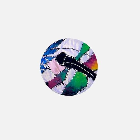 Cute Dragonfly art Mini Button