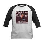 Chocolate - I Want It All Kids Baseball Jersey