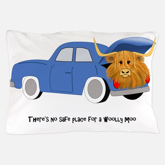Funny Highland cow Pillow Case