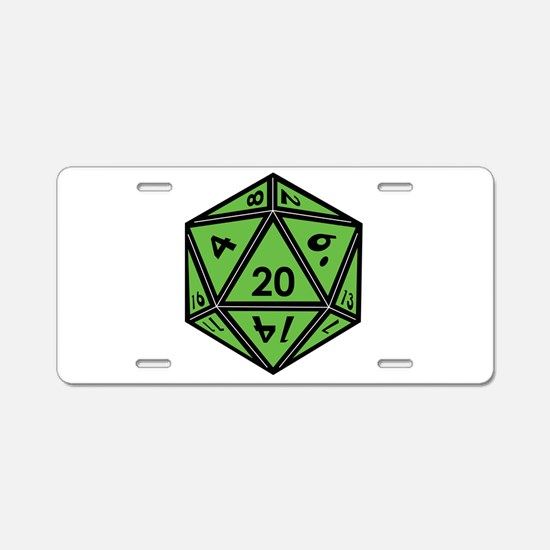 Funny D20 Aluminum License Plate