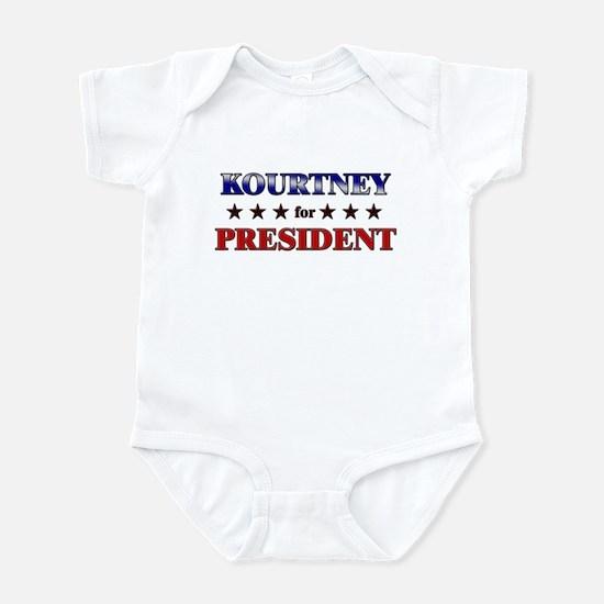KOURTNEY for president Infant Bodysuit
