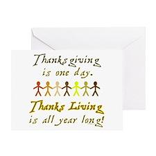 Thanks Living Greeting Card