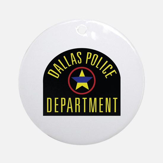 Cute Police department Round Ornament
