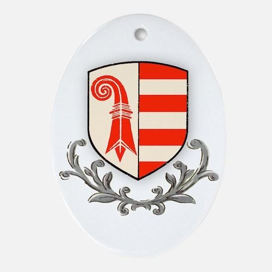 Canton Jura Oval Ornament