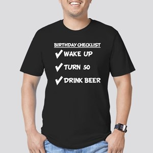 50th Birthday Checklist Drink Beer T-Shirt