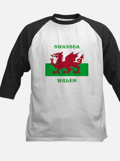 Swansea Wales Kids Baseball Jersey