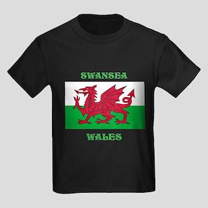 Swansea Wales Kids Dark T-Shirt