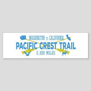 Vintage Style Pacific Crest Trail H Bumper Sticker