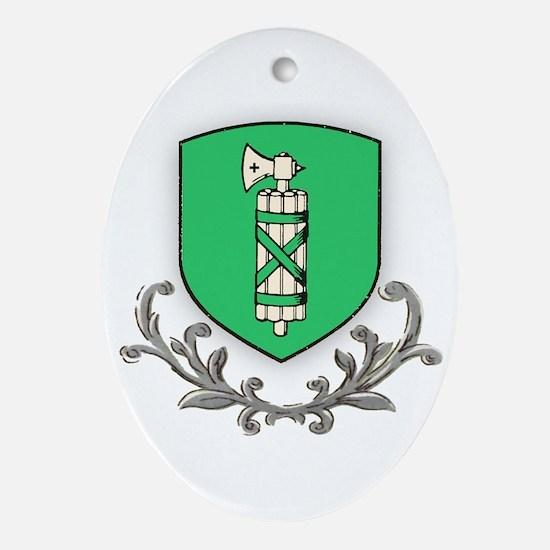 Canton St Gallen Oval Ornament