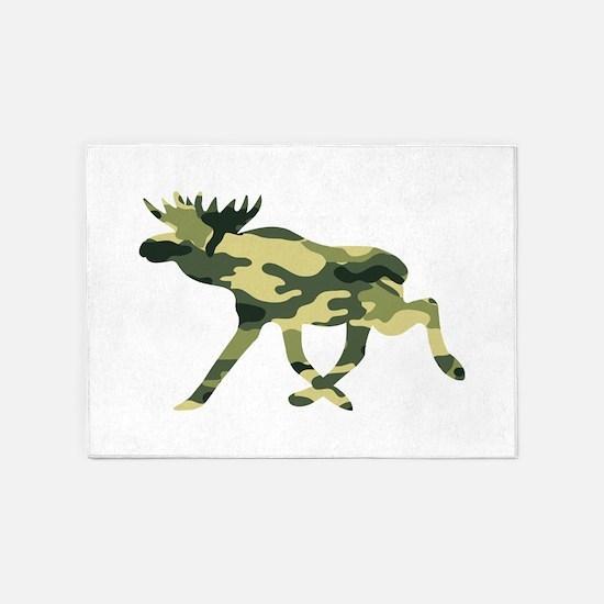 Moose Camouflage 5'x7'Area Rug
