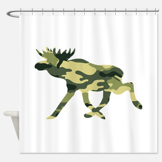 Moose Camouflage Shower Curtain