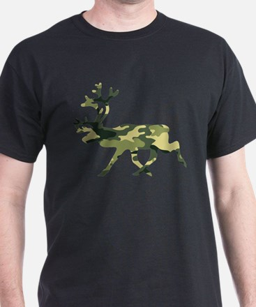Reindeer Caribou Camouflage T-Shirt