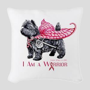 Carin Cancer Warrior Woven Throw Pillow