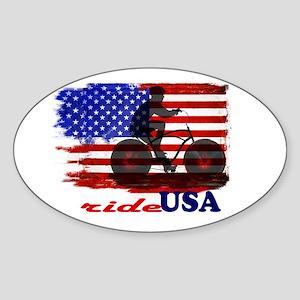 ride USA American Flag Background Sticker