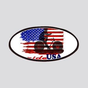 ride USA American Flag Background Patch
