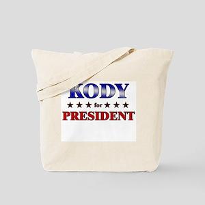 KODY for president Tote Bag