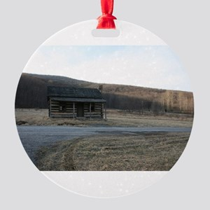 Abe Lincoln's Mother's Home Round Ornament