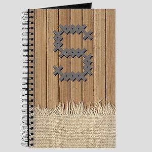 Cross Stitch Monogram Journal S