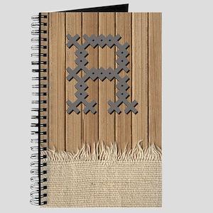 Cross Stitch Monogram Journal R