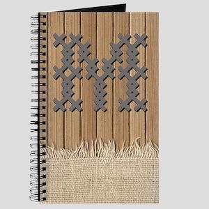 Cross Stitch Monogram Journal M