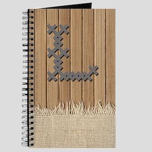 Cross Stitch Monogram Journal L