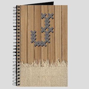 Cross Stitch Monogram Journal J