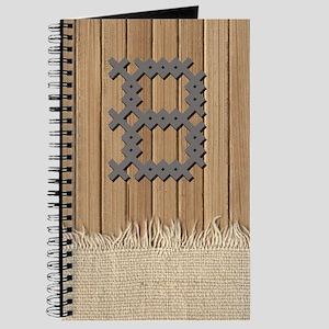 Cross Stitch Monogram Journal B