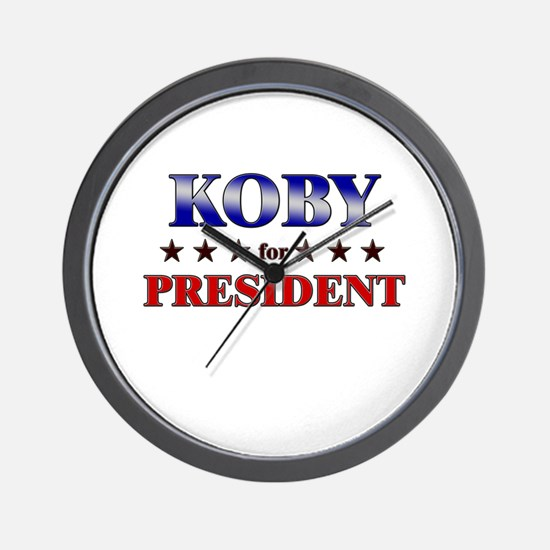 KOBY for president Wall Clock
