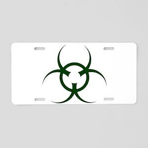 Bio Hazard Symbol Aluminum License Plate