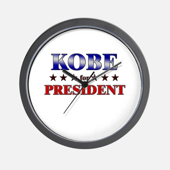 KOBE for president Wall Clock