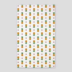 Pixel Art Pineapple Pattern Area Rug
