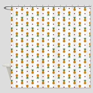 Pixel Art Pineapple Pattern Shower Curtain