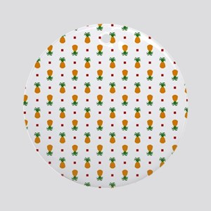 Pixel Art Pineapple Pattern Round Ornament