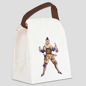 Drinking Clown Canvas Lunch Bag