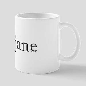 I Love Jane Silhouette Mug