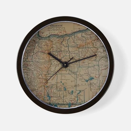 Cute I love oregon Wall Clock
