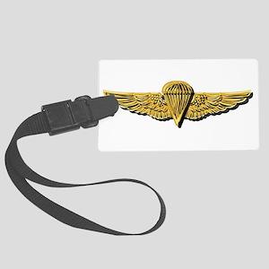 Navy - Parachutist Badge - No Tx Large Luggage Tag