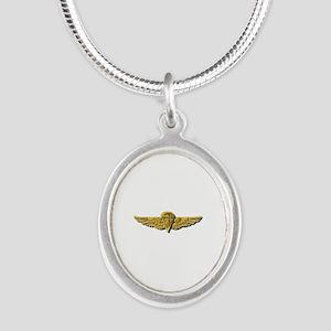 Navy - Parachutist Badge No Silver Oval Necklaces