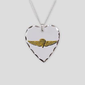 Navy - Parachutist Badge - No Necklace Heart Charm