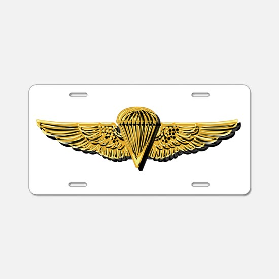 Navy - Parachutist Badge - Aluminum License Plate