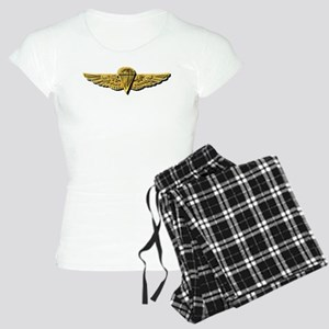 Navy - Parachutist Badge - Women's Light Pajamas