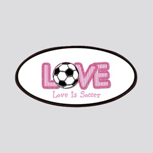 Love is Soccer: Pink Personalize Patch