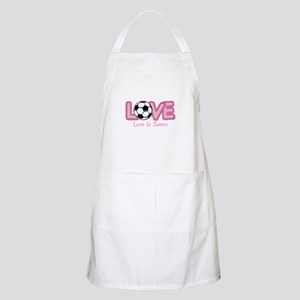 Love is Soccer: Pink Personalize Apron