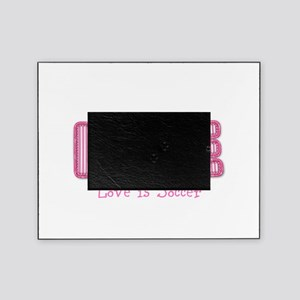 Love Is Soccer: Pink Personalize Picture Frame