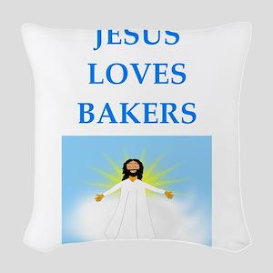 baker Woven Throw Pillow