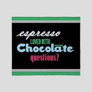 Chocolate Espresso Dark Throw Blanket